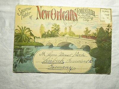 1933 Ansichtskarte Souvenir Folder of New Orleans Louisiana Faltkarte
