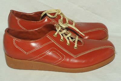 Buster Brown burnt orange sneakers youth 3.5 C narrow Made in USA NOS