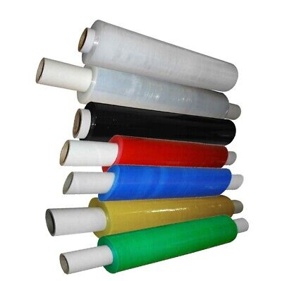 Stretch Cling Film Ext Core 400mm Pallet Shrink Wrap Black Clear Colour 18mu