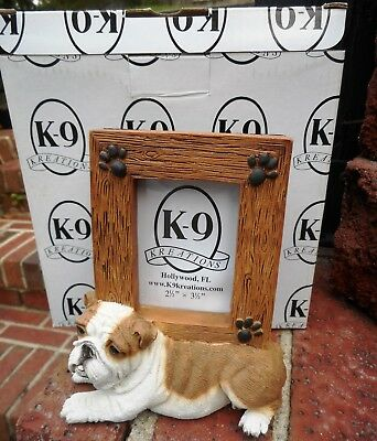K-9 Kreations BULLDOG K-9 Resin Picture Frame