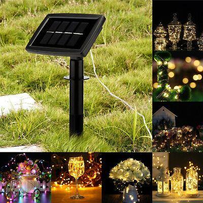 22M 200LED Outdoor Solar Powered Copper Wire Light String Fairy Party Decor 2018