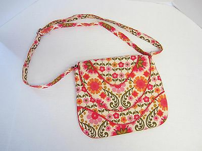 6257714e4ff3 Vera Bradley Purse Folkloric Crossbody Pink Orange Floral CLEARANCE SALE