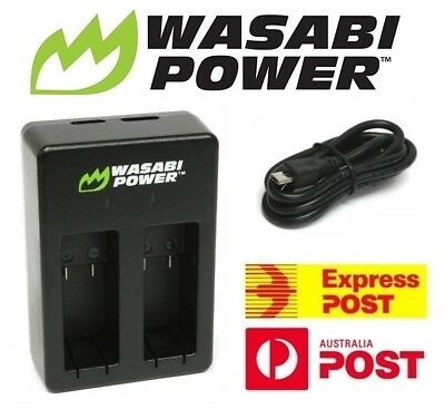 Wasabi Power Dual USB Battery Charger for GoPro HERO 5, 6 & 7 Black, HERO 2018