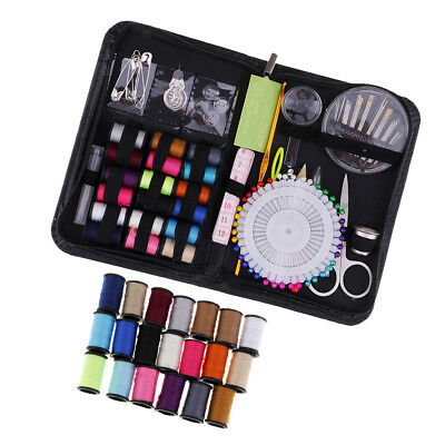 136pcs Portable Beginner Sewing Kit Case DIY Sewing Supplies with 38 Threads