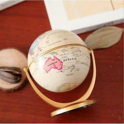 10cm Rotating World Map Earth Globe + Swivel Stand Geography Educational Toy