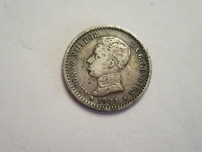 1904 Spain Silver 50 cent