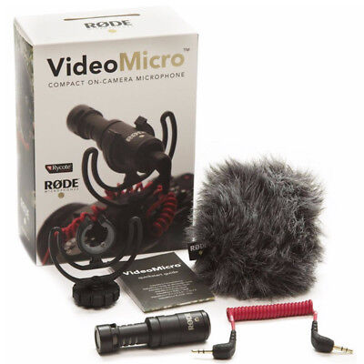 Rode VideoMicro Compact On-Camera Recording Microphone for Canon Nikon Sony DJI