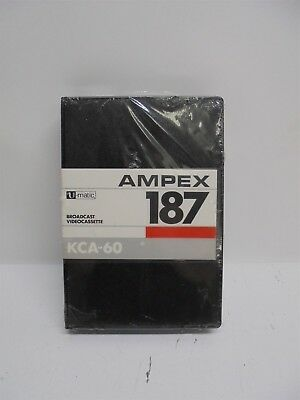 New Ampex 187 KCA-60 Broadcast Quality Blank Cassette Tape