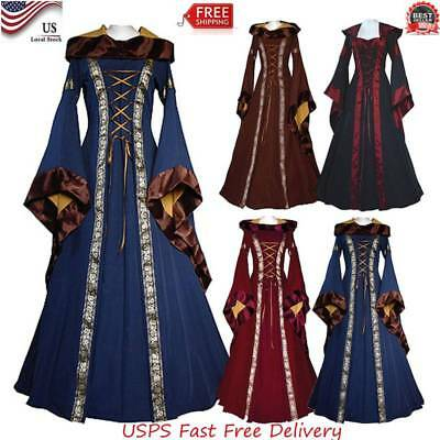 Medieval Renaissance Cosplay Wench LARP Halloween Costume Dress