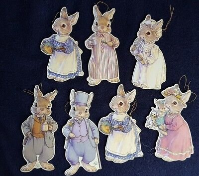 B. Shackman & Co. two sided bunny ornaments, Easter decorations