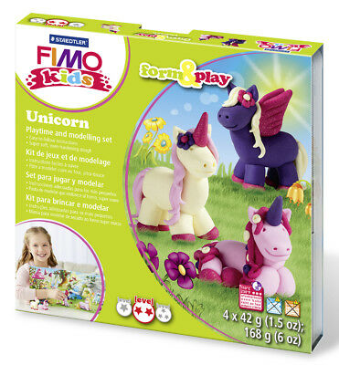 Fimo Kits For Kids Form & Play Polymer Modelling Oven Bake Clay - SET Unicorn