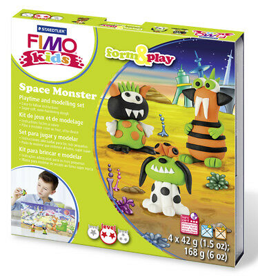 Fimo Kits For Kids Form & Play Polymer Modelling Oven Bake Clay Space Monster