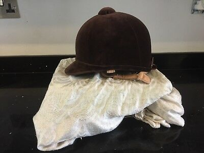 Brown charles owen fiona riding show hat 6 1/2 / 53