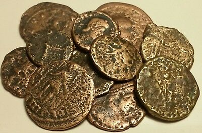 11 Unidentified Unknown Coins Ancient Roman Coins AE 4 Very Nice Roman Coin Lot