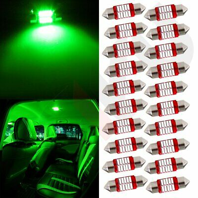 20x 31mm Festoon Green Interior Bulb Led Light 10SMD Dome/Map/License Lights