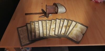 Rare Original Antique Stereoscope Viewer with Lot of (14) View Cards From 1897