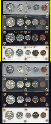 Lot Of 4 Proof Sets- 1954-1955-1956-1957- Scarce- No Reserve