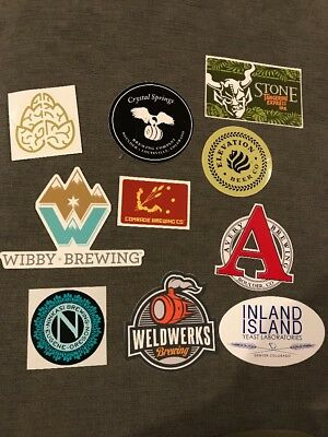 10 Sticker Craft Beer Brewery Pack Lot Colorado-Denver-Weldwerks-Avery-Stone #1