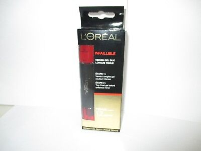 L'oreal Infaillible  Vernis Gel Duo Longue Tenue 2X5 Ml Rouge Bordeaux  Blister