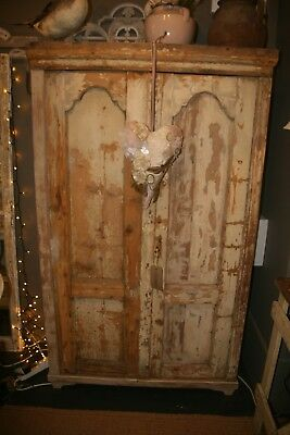 Antique French Armoire cupboard cabinet shabby chic vintage original paint
