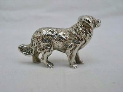 Fine Solid Silver Miniature Model of A Dog By Nathan & Hayes Chester 1903.