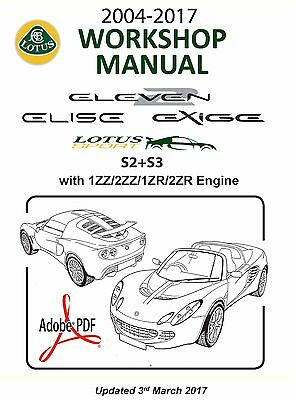 2004 2017 s2 s3 lotus elise exige workshop manual 1zz 2zz 1zr fae rh picclick co uk lotus elise s2 workshop manual lotus elise s2 workshop manual