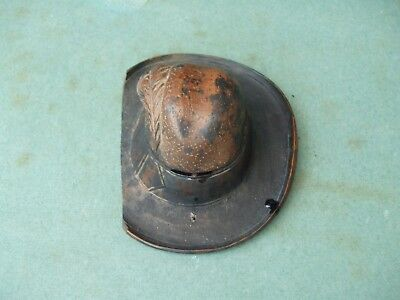 Vintage Treen Ink Well In Form Of Cowboy Hat