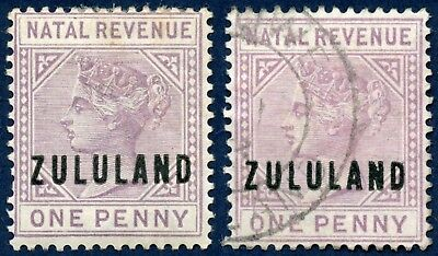 South Africa / Zululand Natal Fiscal 1891 mint & used 1d mauve