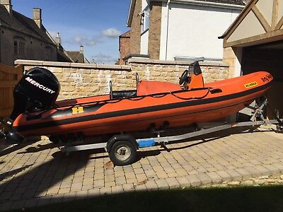 Used Humber Rib with 80 hp Mercury outboard