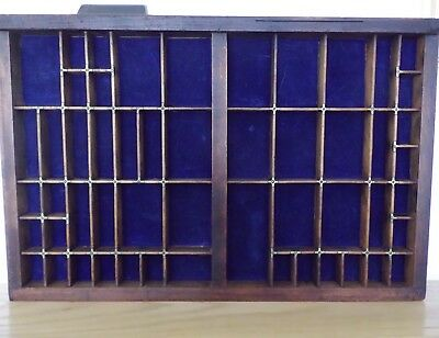 Super quality vintage printers drawer - lined, brass connectors, dovetails.