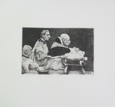 """Summer Special! Limited Edition Etching Print """"Pope John XXIII"""" by Charles Bragg"""