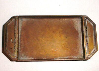 Antique Heintz arts & crafts sterling silver bronze key change dish tray ashtray