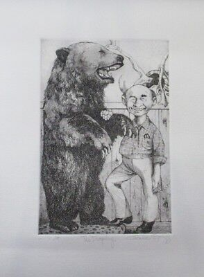 """Summer Special! Limited Edition Etching Print """"The Trophy"""" by Charles Bragg"""