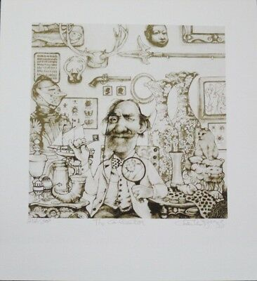 """Summer Special! Limited Edition Etching Print """"The Collector"""" by Charles Bragg!"""