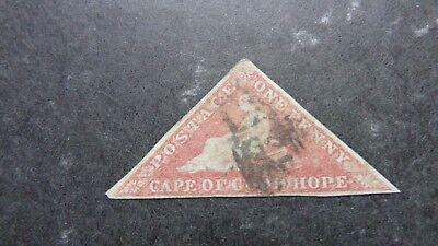 Cape Of Good Hope 1d red Triangle Fine Used