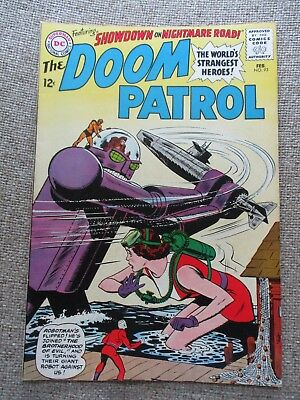Dc The Doom Patrol # 93 1965 Robotman Showdown - Vf-