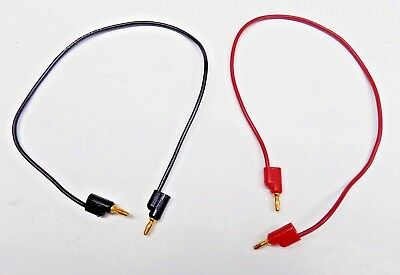 New 2 Pc Pomona  Banana Plug Black & Red Patch Cord Set