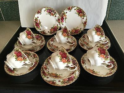 ROYAL ALBERT OLD COUNTRY ROSE Trios X 6 Cups.Saucers Plates First Quality