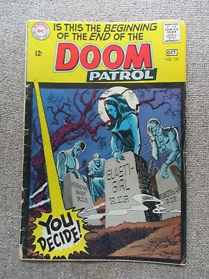 DC THE DOOM PATROL # 116-120, 121, 123 - 7 Issues