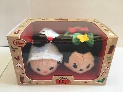 Disney Tsum Tsum ~ Mickey and Minnie Mouse Christmas 2016 Set ~ New In Box