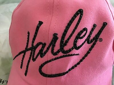 Pink ladies Harley Davidson hat (one Size Fits All)