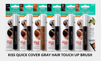 (Buy 1 Get 1, 50% Off) KISS Quick Cover Gray Hair Touch Up Brush Stick Comb