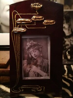 Exceptional Rare, Original Art Nouveau,secessionist,jugendstil Wood Photo Frame