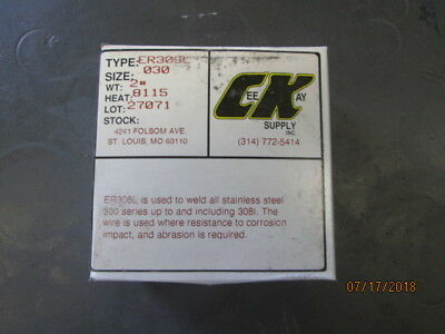 """2-MIG Welding ER308L Stainless Steel Mig Wire 308L .030"""" 2 lb Roll, 308L-030-2"""