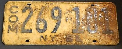 """Vintage 1951 New York Commercial License Plate 269-101 Good Cond. 15.75"""" x 6"""""""