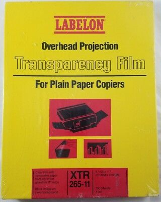 Overhead Projection Transparency Film For Plain Paper Copiers SEALED 100 Sheets