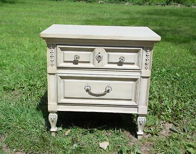 Vintage French Provincial Bedroom Nightstand Entry End Table Dixie Furniture