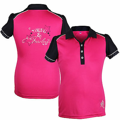 QHP Mädchen Polo-Shirt Young&Fearless Junior fuchsia Farbdetails + Prints