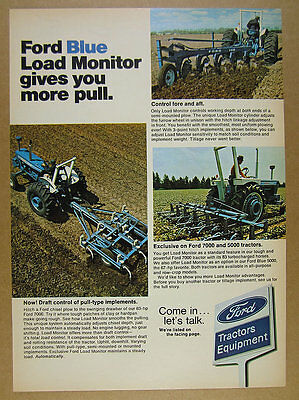 1973 Ford 7000 Tractor plows field plowing photos vintage print Ad
