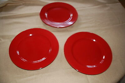 SET of 3 Pier 1 Imports Granada 11  RED dinner plates Handcrafted Earthenware & SET OF 3 Pier 1 Sanctuary Dinner Plates - $15.00 | PicClick